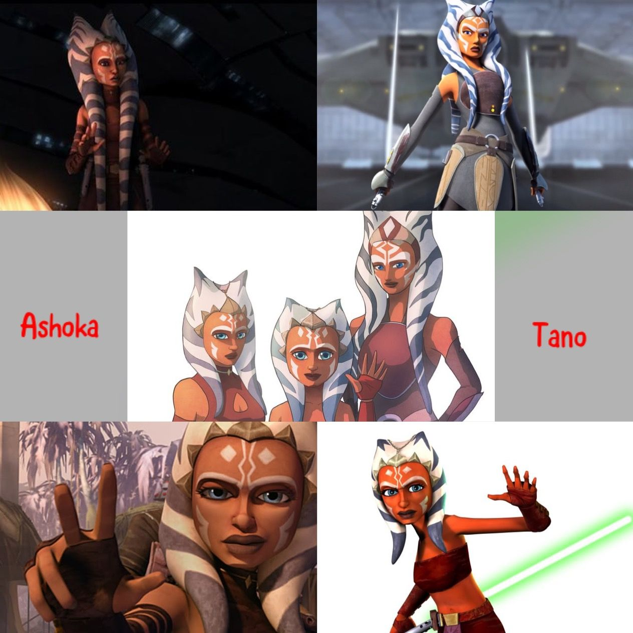 Ahsoka Tano  Evolution | Clone Wars | Star wars canon, Star