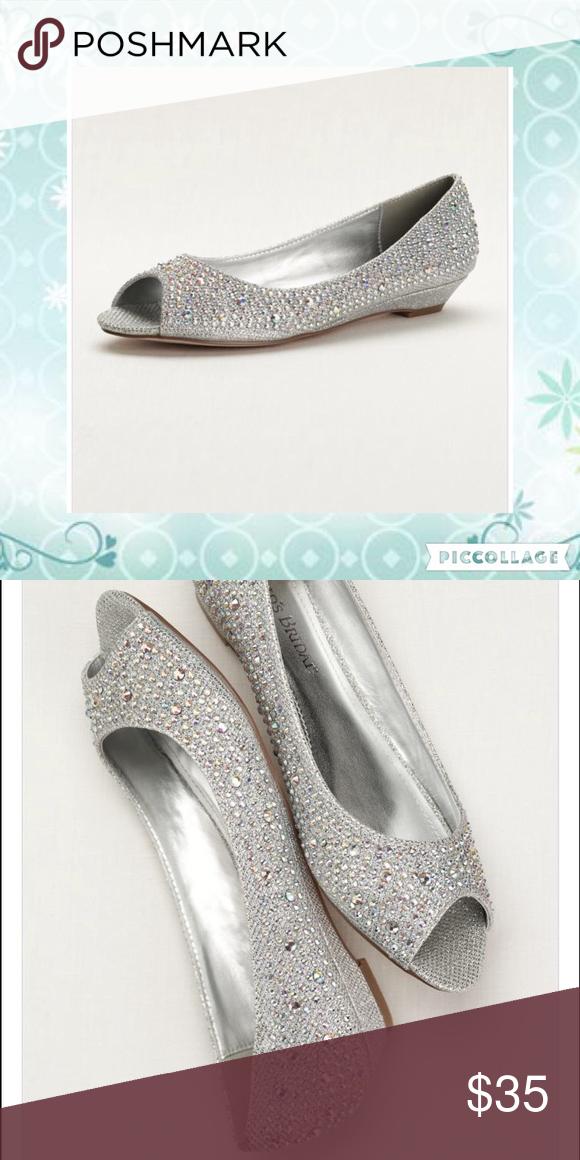Bridal shoes wedges, Davids bridal
