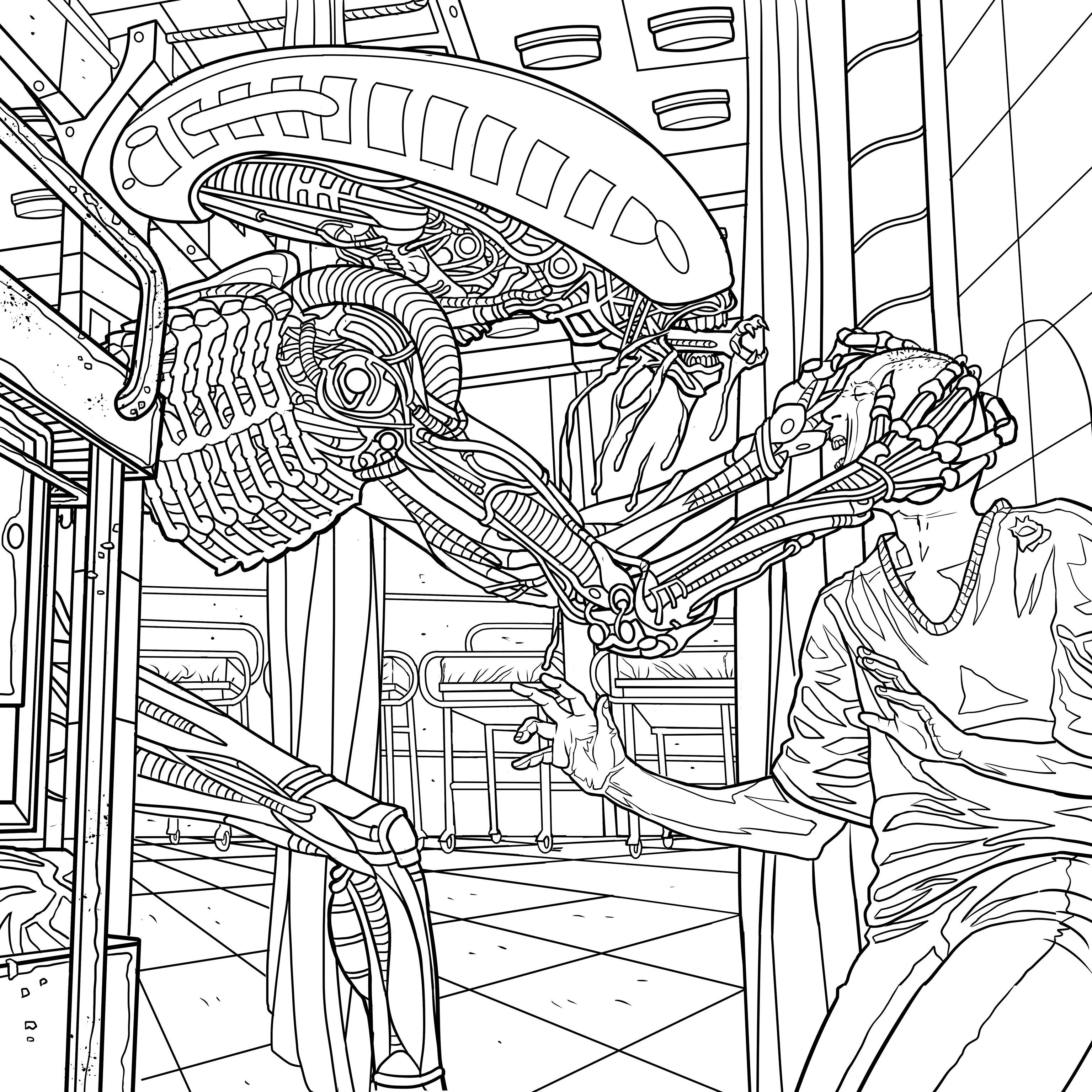Alien coloring book pages available for download bede for Coloring pages aliens