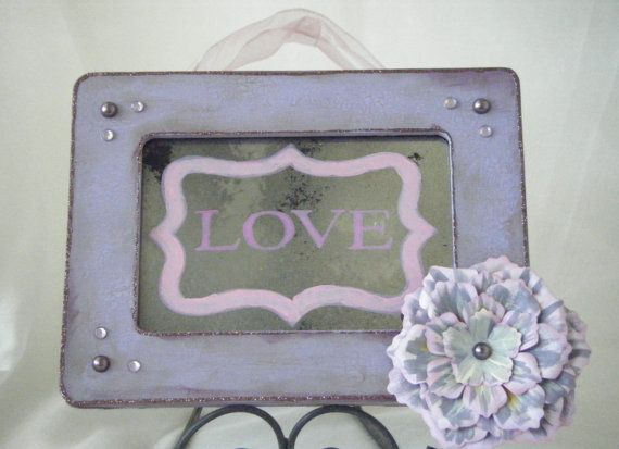 LOVE antiqued mirror sign by BusterJustis