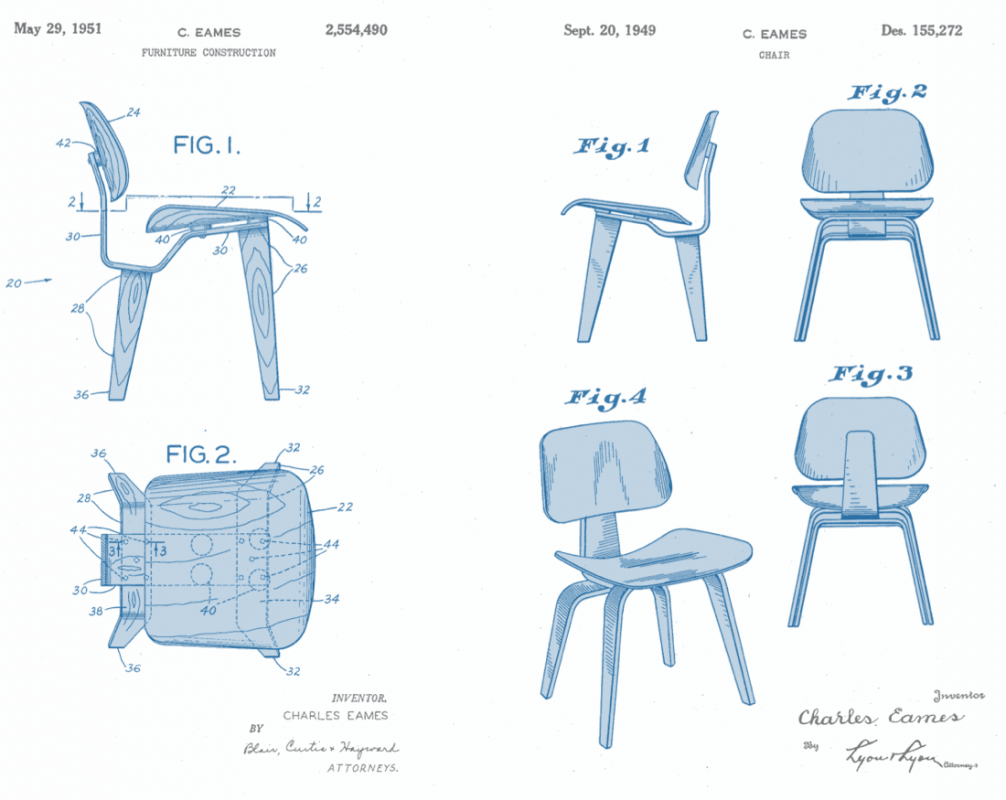 Eames lcw chair plans buscar con google m i d c e n for Chair design drawing
