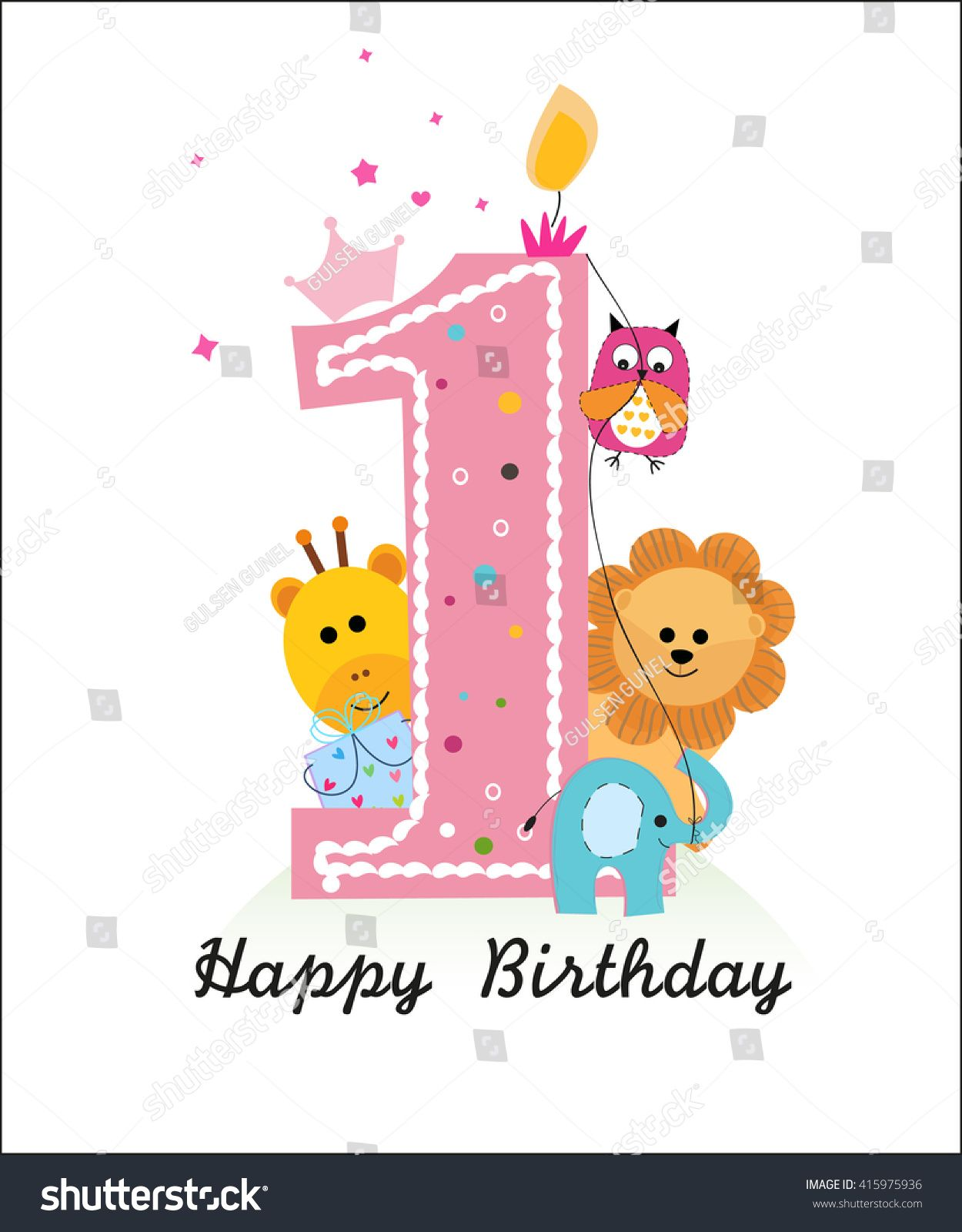 Image Result For One Year Old Birthday Card