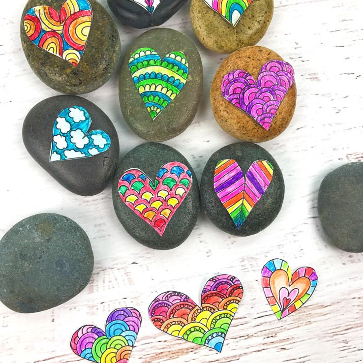 Valentine S Day Crafts Doodle Hearts Coloring Page And Heart