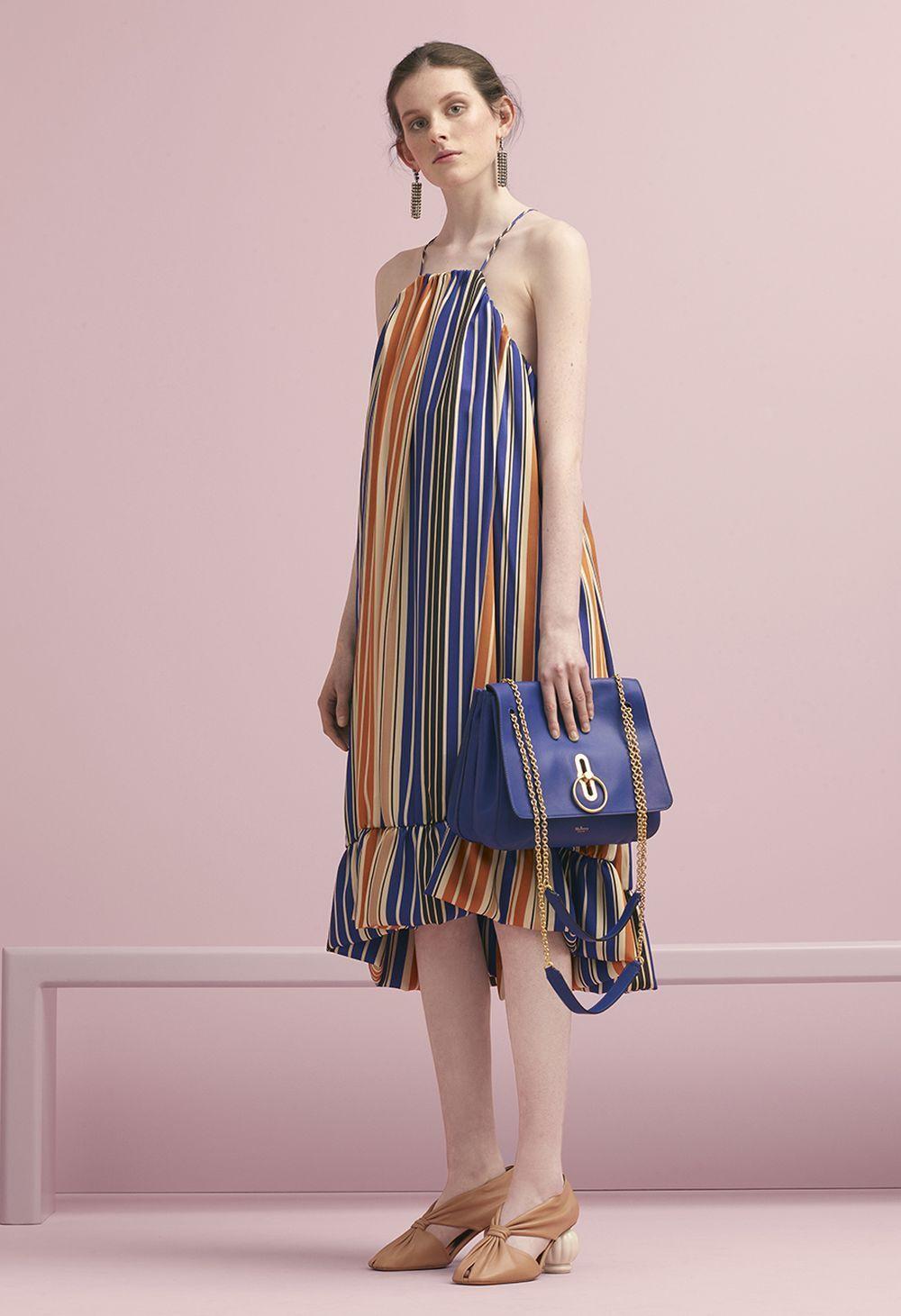 a4b894a716 Mulberry Summer  18 LFW show. Janet Dress in Indigo Stripes Twill ...