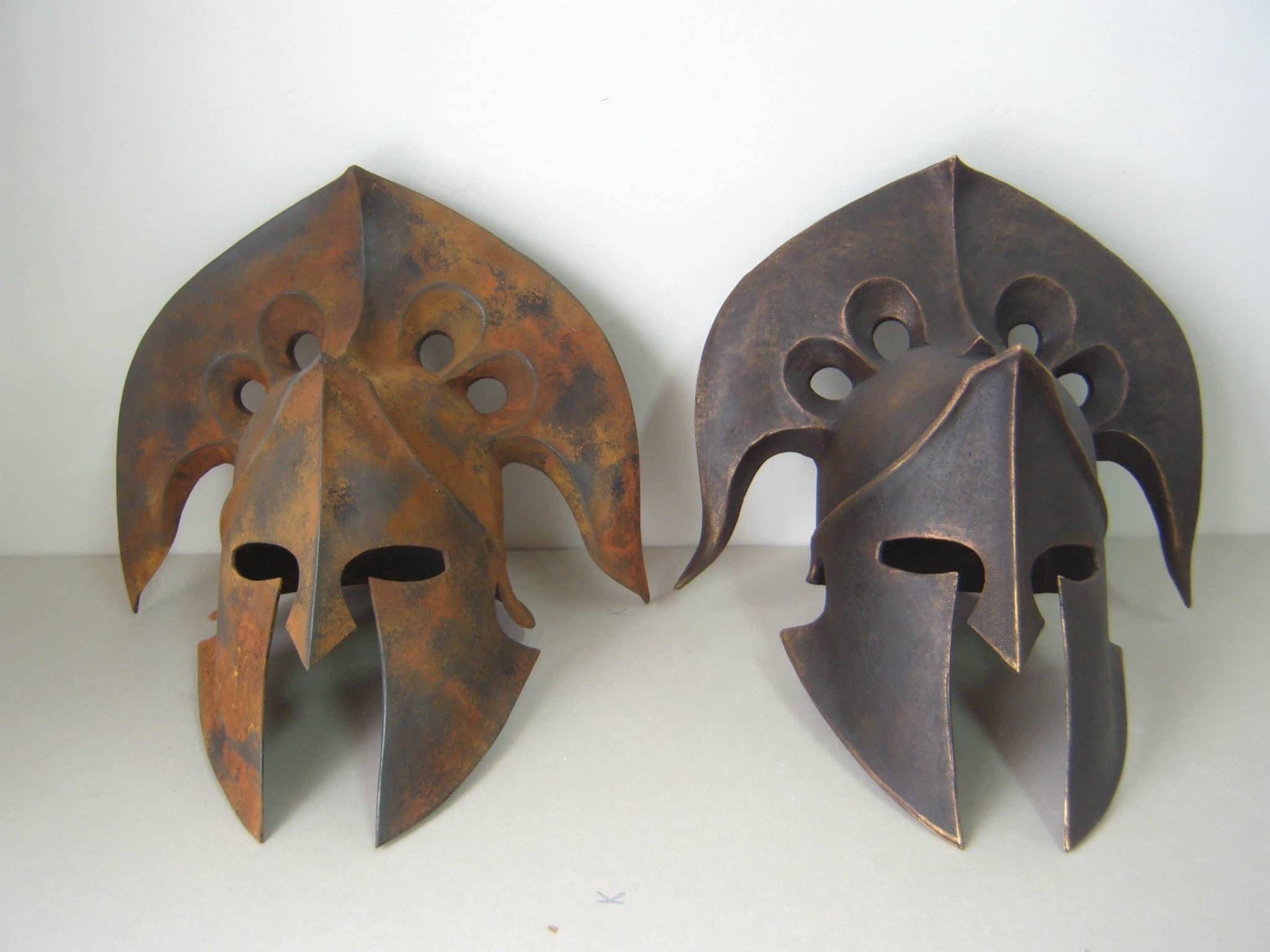 Spartan Helmet, Mask for Cosplay, Greek Helmet, Ancient