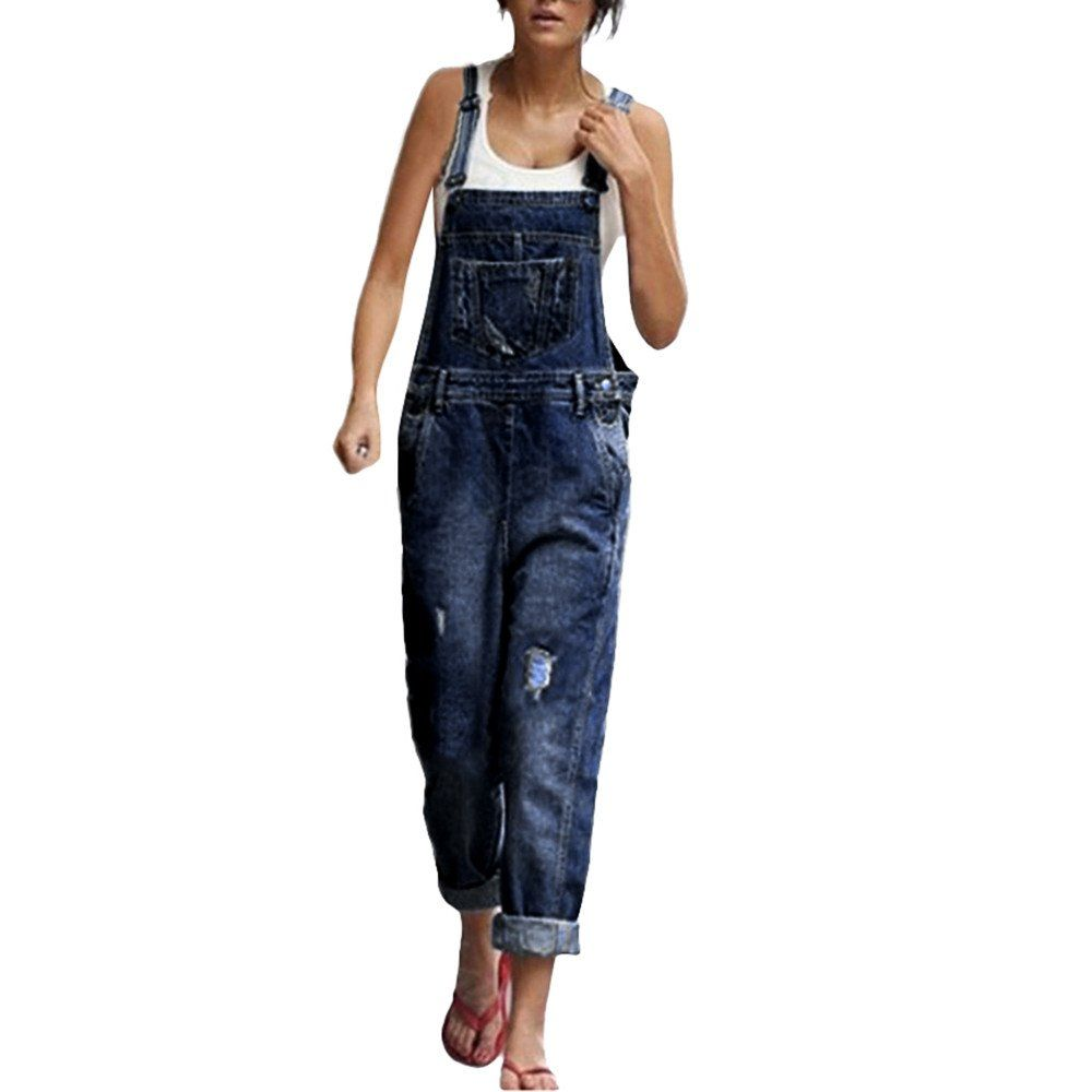 7c340daff5c Littleice Wonen Playsuit Jeans Demin Jumpsuits Hole Overalls Straps Jumpsuit  with Pockets L    Details can be found by clicking on the image.