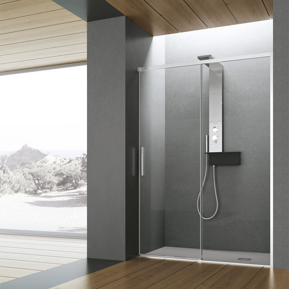 Cabina doccia HAFROGEROMIN Time Scorrevole Muur