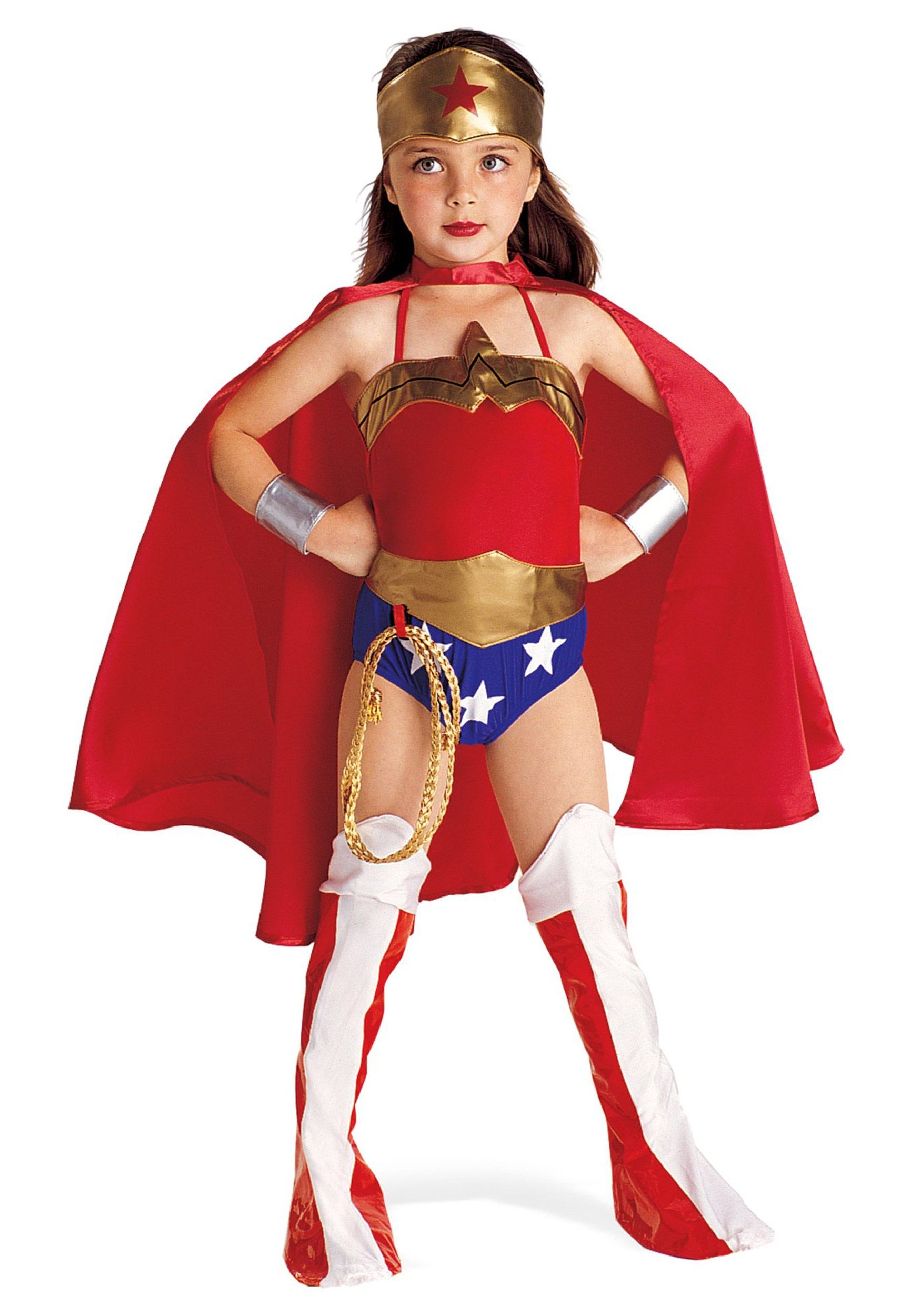 Girls Classic Wonder Woman Costume - Kids Superhero Halloween Costumes  sc 1 st  Pinterest & Girls Classic Wonder Woman Costume - Kids Superhero Halloween ...