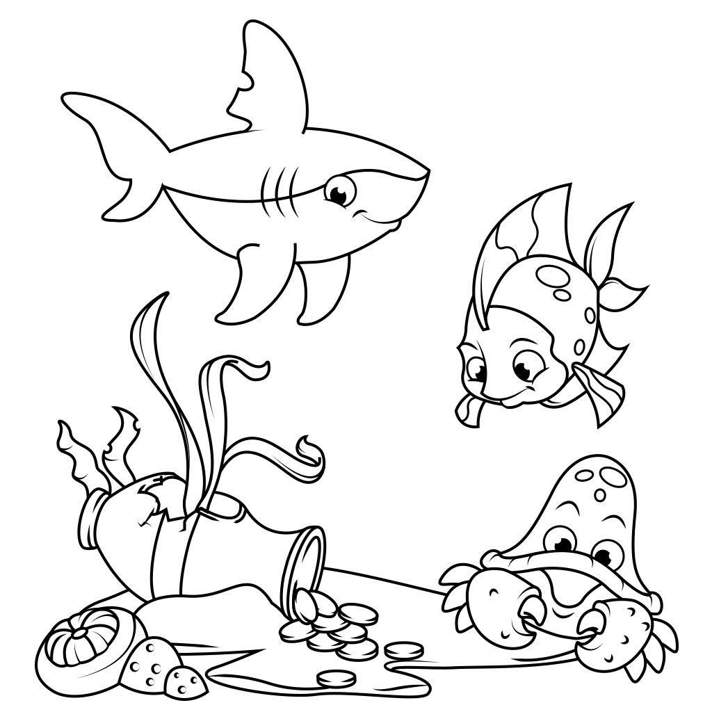 Fish Coloring Pages - Free Android, iPhone/iPad app for kids ...