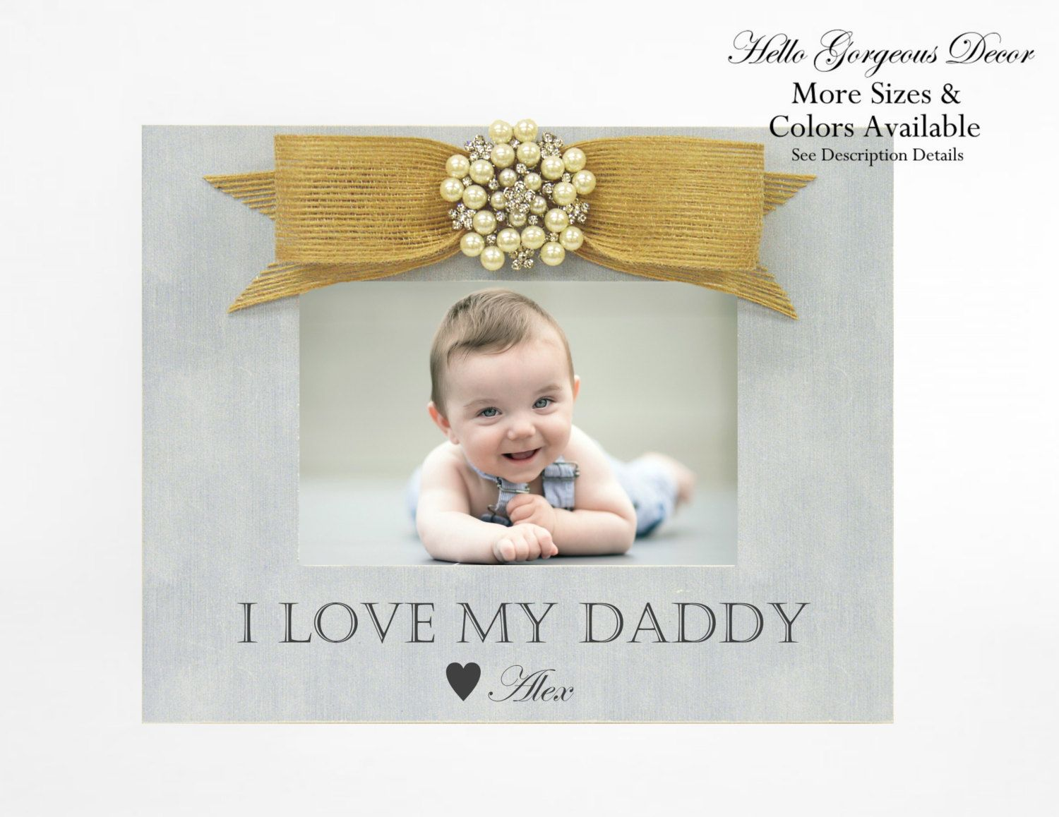 Baby Picture Frame Gift To Dad Father From Child Personalized I Love My Daddy Custom Photo New Birthday Newborn