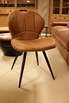 6 cognac stoffen industri le eetkamerstoelen stoelen for Eettafel stoelen cognac