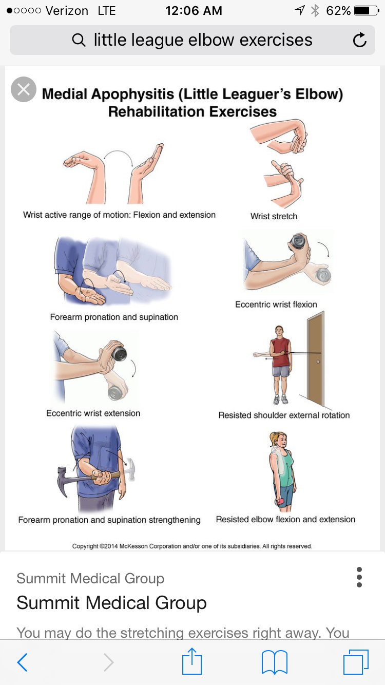 Pin By Paige Ralls On Baseball Elbow Exercises Rehabilitation Exercises Little League