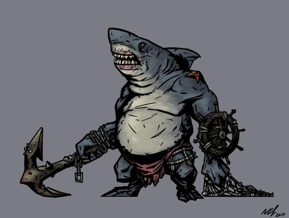 Darkest Dungeon Pelagic Gladiator By Grimnoley On Deviantart Darkest Dungeon Fantasy Character Design Cartoon Character Design