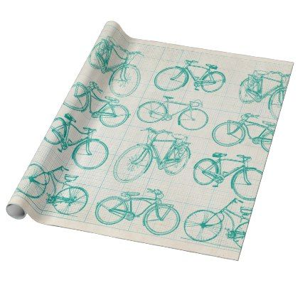 Bicycle blueprint design wrapping paper malvernweather Image collections