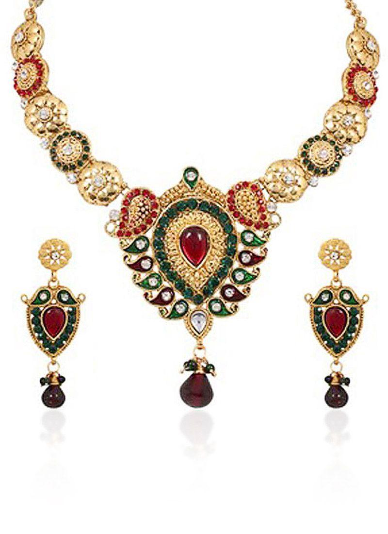 Multicolored Necklace Set