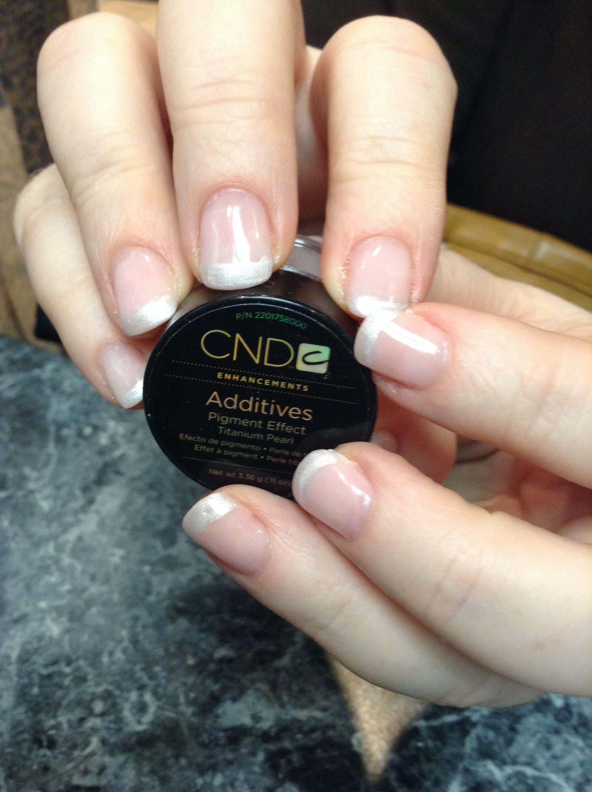 CND BRISA LITE SCULPTING GEL NAILS w Additives Titanium Pearl tips ...