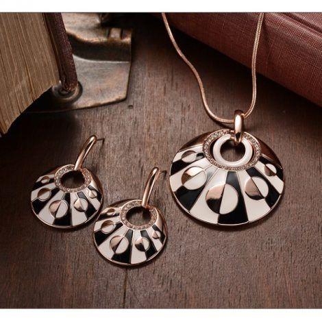 Rose Gold Rhinestone Jewelry Set Singapore dollar