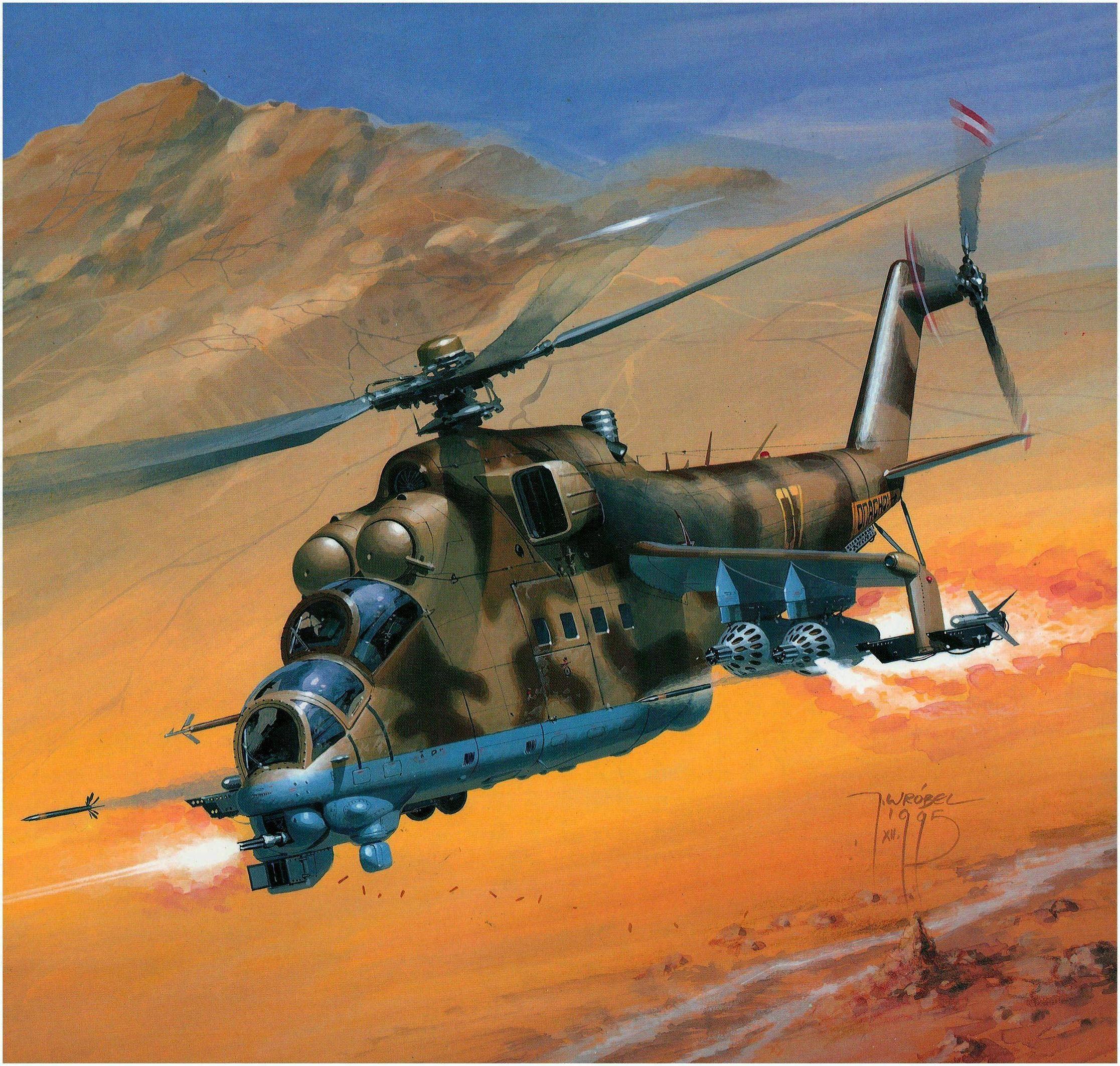 Mil Mi-24D Hind. | Soviet-Afghan War Art | Pinterest ...