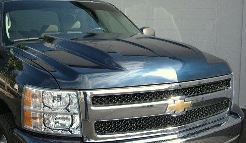 07-11 Chevy Silverado Steel Cowl Induction Hood at Carolina Classic