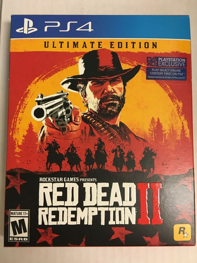 Red Dead Redemption 2 Ultimate Edition Ps4 Playstation 4 Brand New Steelbook Dlc Reddeadredemption Gaming Xboxone Red Dead Redemption Red Dead Redemption Ii Playstation