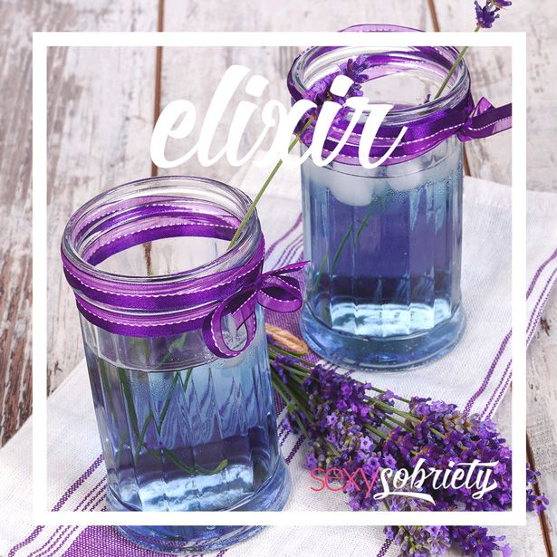 Lavender Lemonade Elixir.  Sophisticated, alcohol-free mocktails to keep your mouth deliciously occupied...
