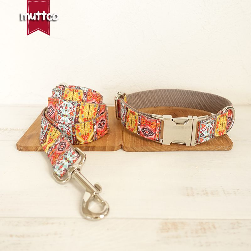 Muttco retailing homemade pleasing dog collar the gray