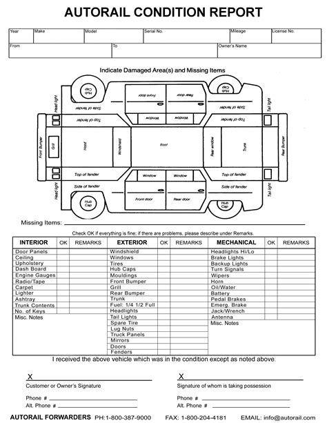 image result for vehicle damage inspection form template car stuff report template. Black Bedroom Furniture Sets. Home Design Ideas