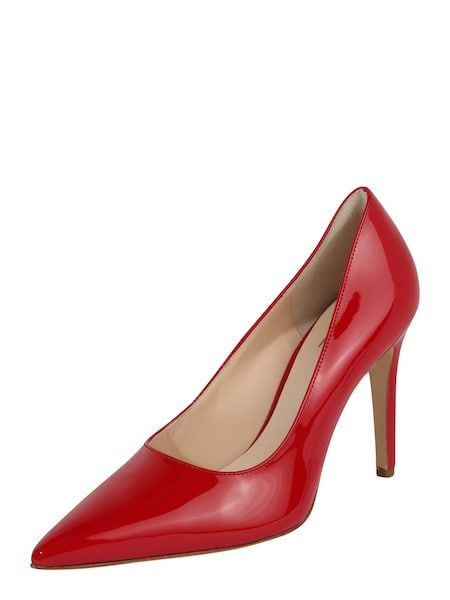 Högl Spitze Pumps mit Stiftabsatz rot #schuhe #fashion