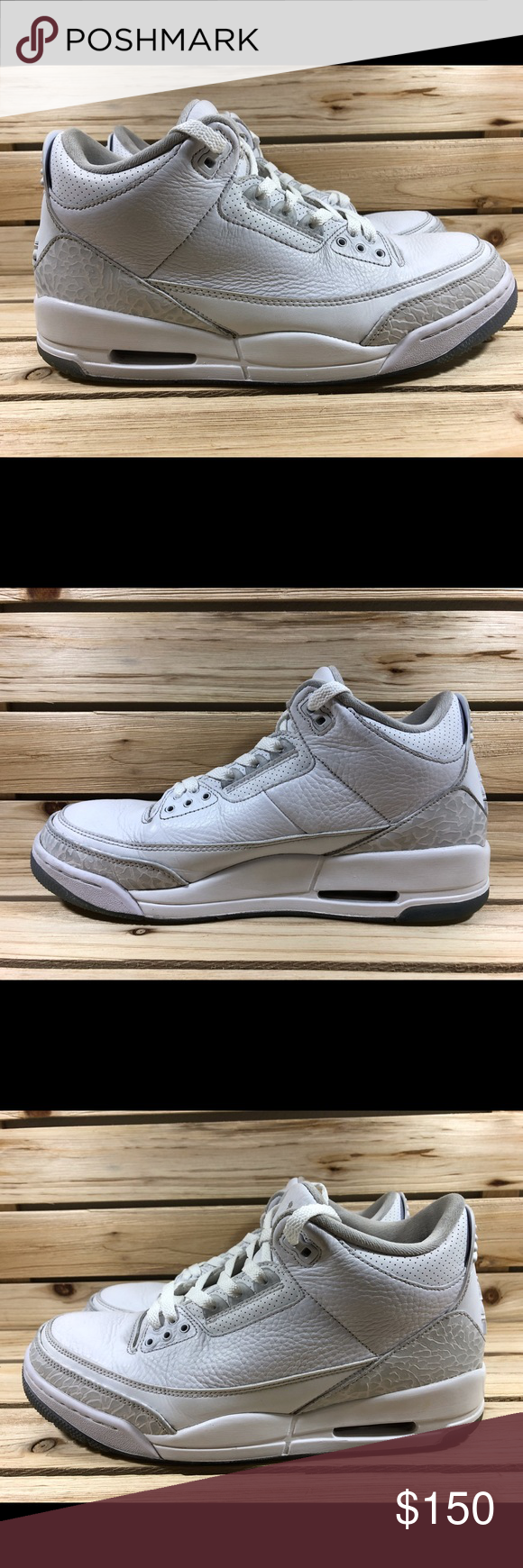 515ef2b8775103 Nike Air Jordan Retro 3 Triple White Product  Nike Air Jordan III 3 Triple  White