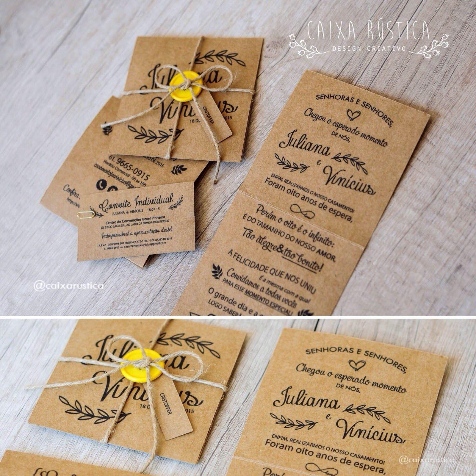 Convite Kraft Undangan Perkawinan Undangan Pernikahan Pernikahan