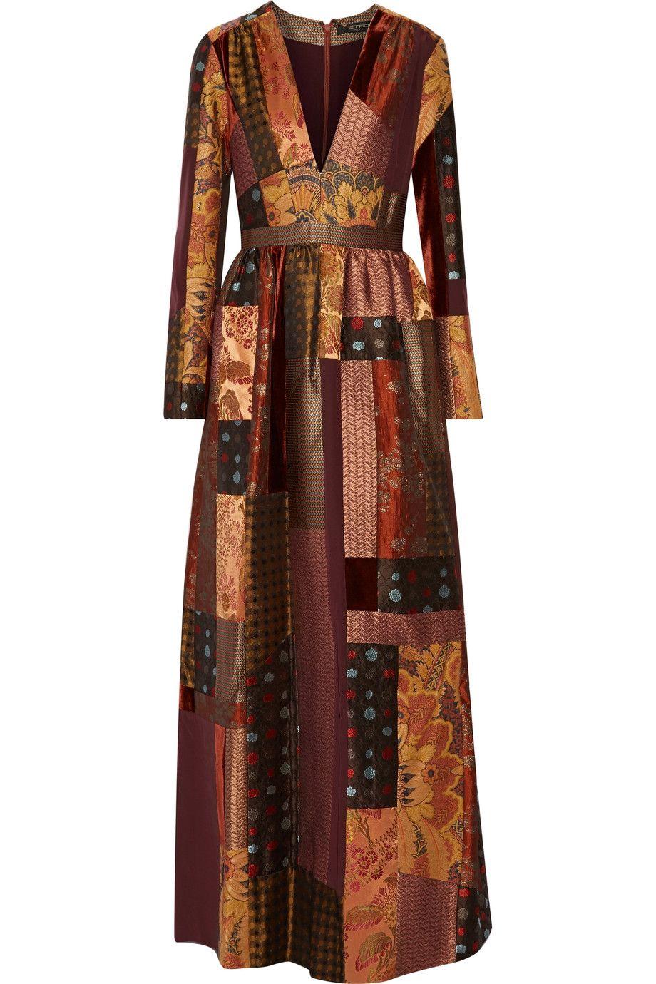 44b79d13716 Shop on-sale Etro Patchwork silk-crepe