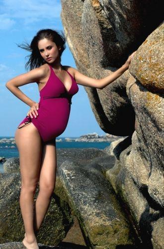 Maillot de bain une pi/èce maternit/é Femme Cache Coeur Calypso