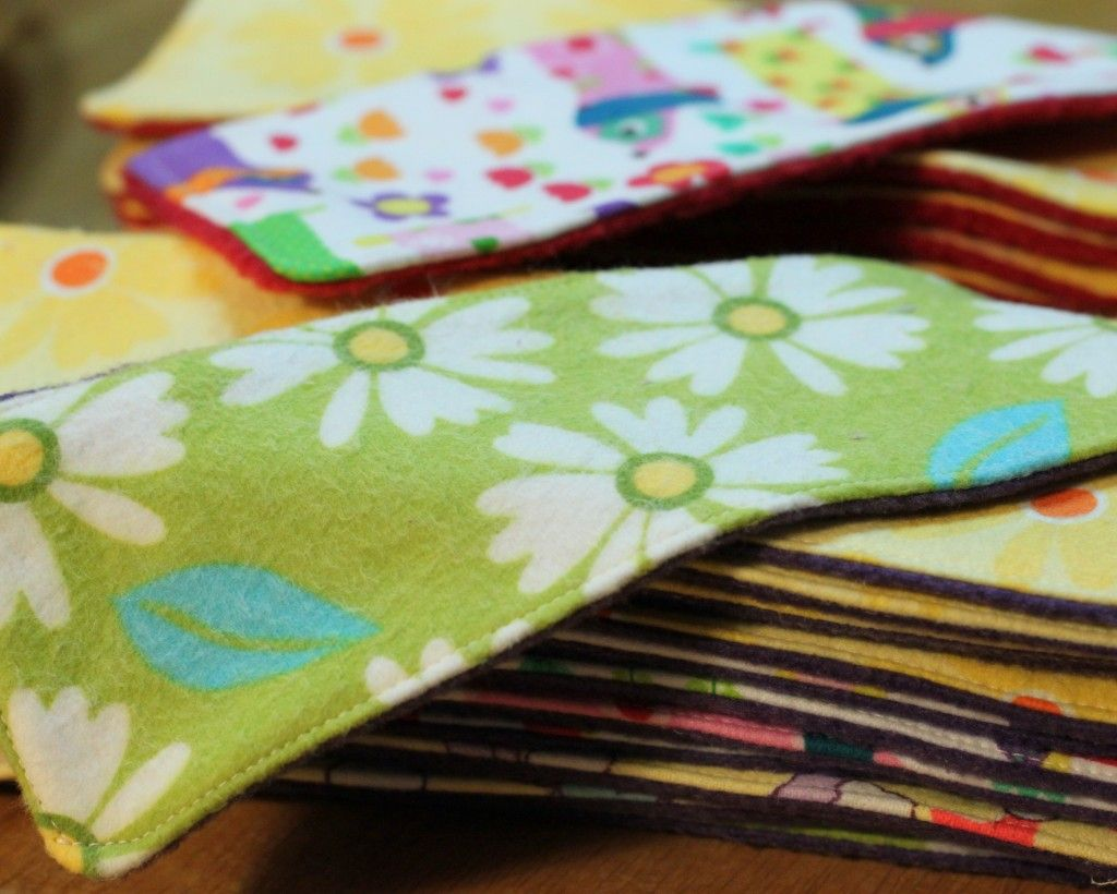 Homemade: Cloth Menstrual Pads (My Apologies to Any Male ...