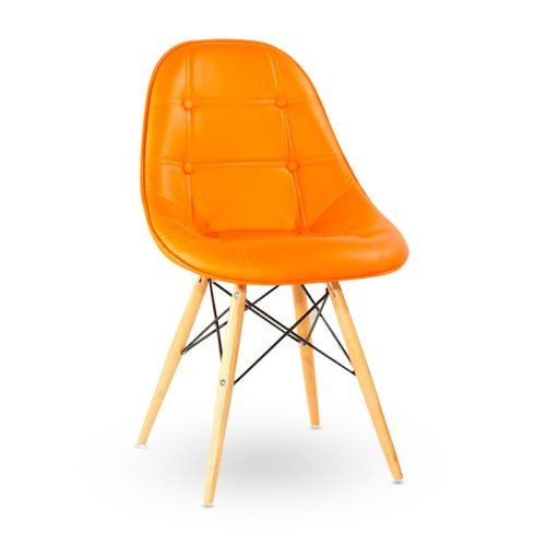 Find It At The Foundary   Prospect Button Tufted Chair   Orange