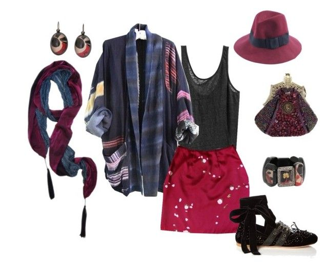 """""""stranger"""" by lealeo on Polyvore featuring GirlOnAVine and Miu Miu"""