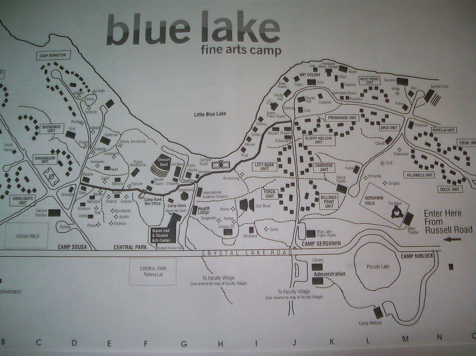 Blue Lake Fine Arts Camp Map | Global Map