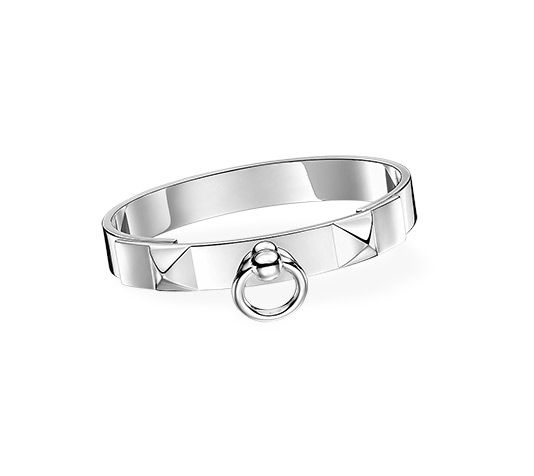 3a4a91cdfb9e Collier de Chien Hermes bracelet in silver, PM, size extra large.  Adjustable from 6.5