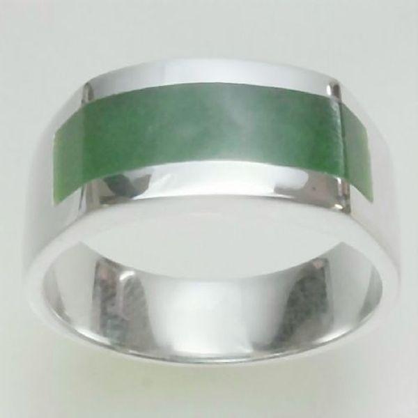 Greenstone Nephrite Jade Pounamu Rings Modern Signet Greenstone