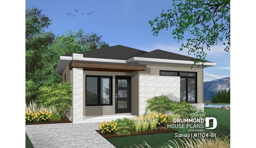 House Plan Sanaa No 1704 Bh Modern Bungalow House Drummond House Plans House Plans