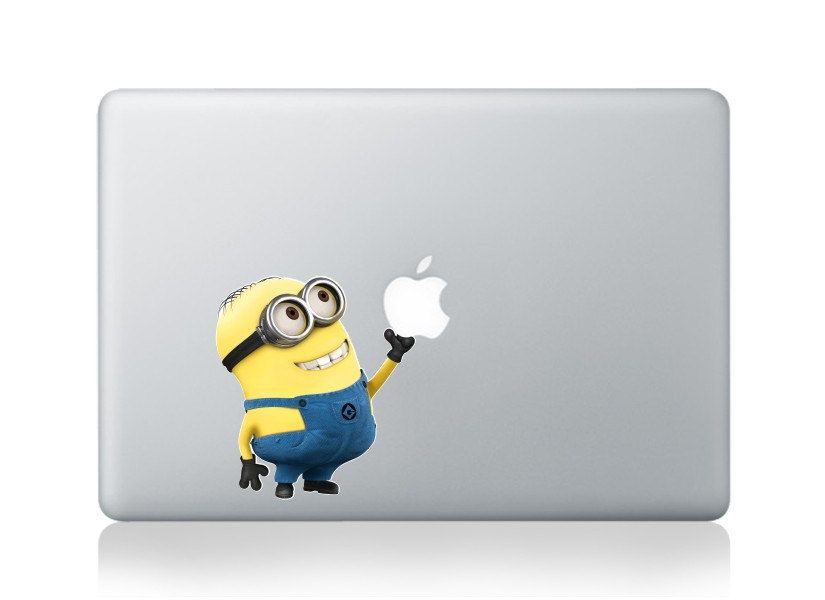 despicable-Macbook Decal Macbook Stickers Macbook pro Skin air Decals Apple Cover Decal iPad sticker Laptop decals. $9.99, via Etsy.