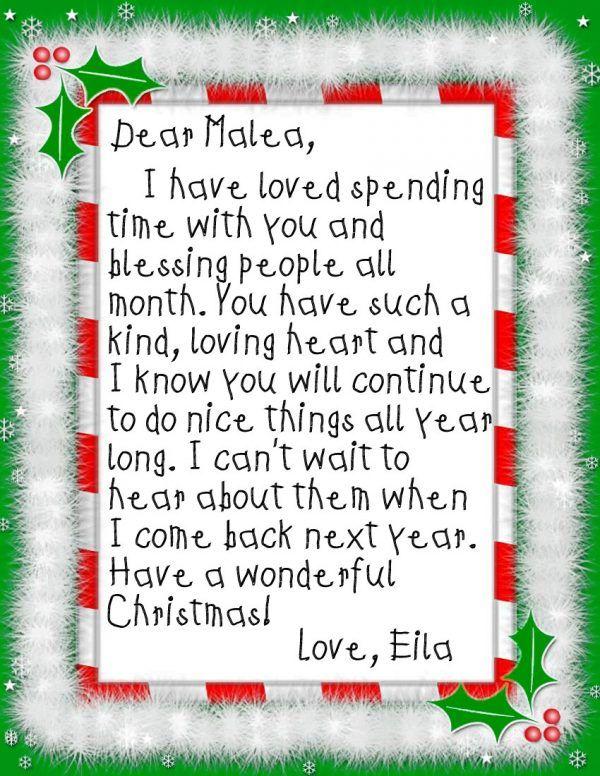 Elf on the Shelf 24 Days of Kindness Elf goodbye