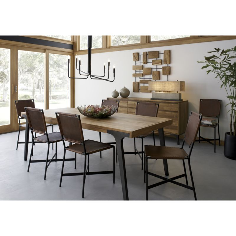f5ce18b271 Lakin Recycled Teak Extendable Dining Table - Crate and Barrel