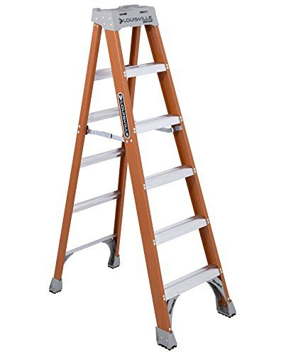 Louisville Ladder Fs1506 300 Pound Duty Rating Fiberglass Ladder 6 Feet With Images Step Ladders