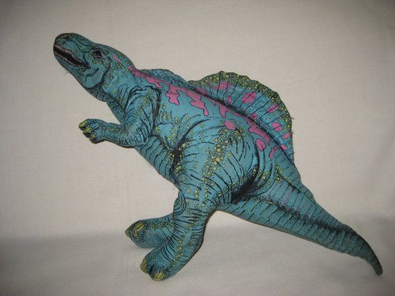 Vintage COLORFUL Stuffed Dinosaur by Applause by VintageByThePound, $24.00
