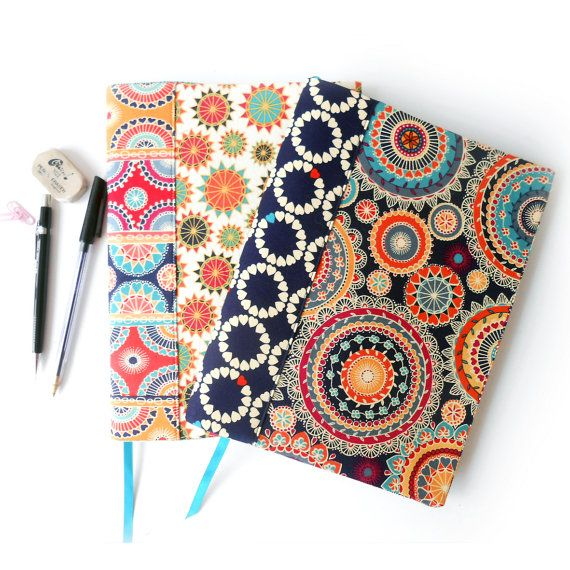 Composition book cover pattern and tutorial. Notebook cover sewing ...