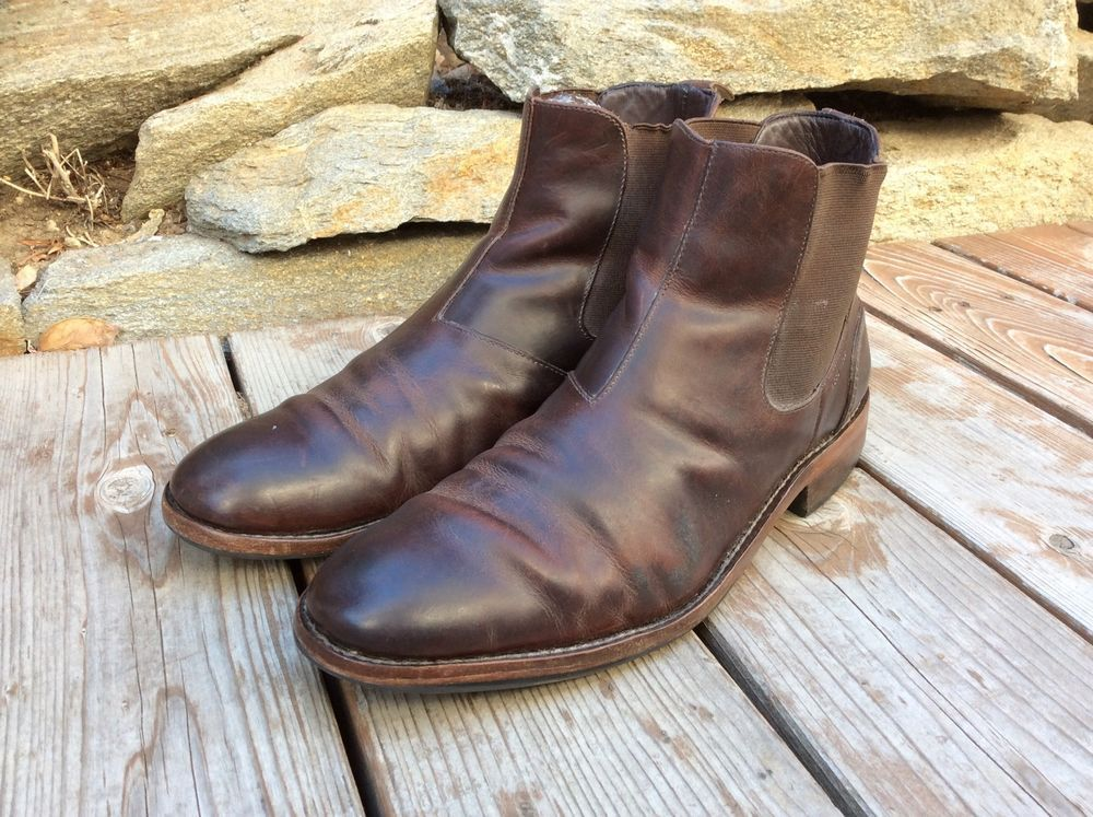 07dd1e66cf9 $295 Wolverine Montague 1000 Mile Brown Leather Chelsea Boots Mens ...