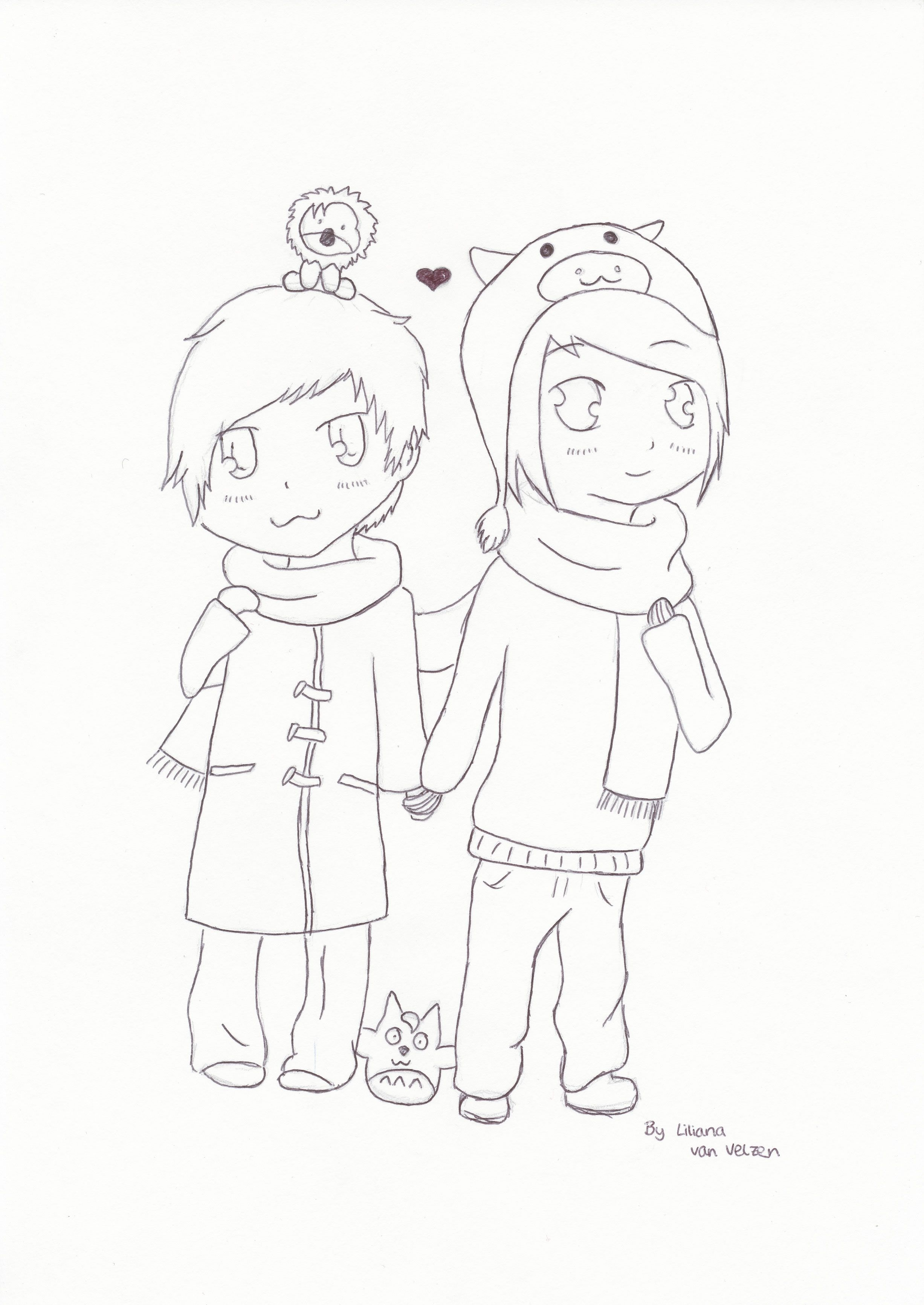 A Drawing of Danisnotonfire and AmazingPhil. Two of my ...