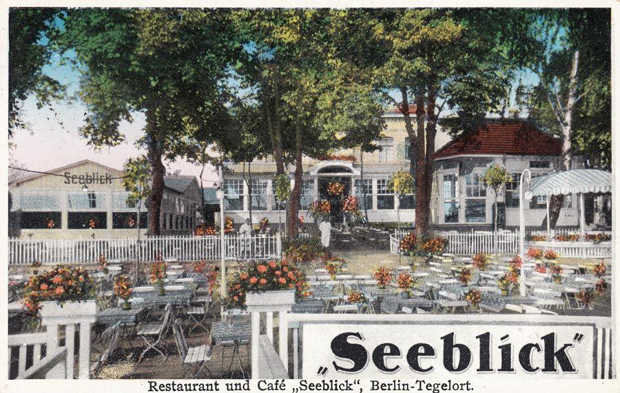 "Restaurant und Kaffee ""Seeblick"", Berlin-Tegelort Um 1932"