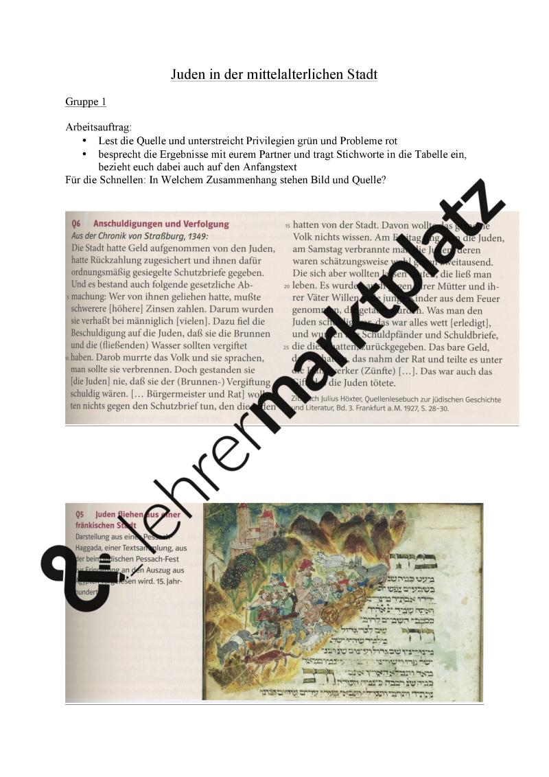 Juden in der mittelalterlichen Stadt – Geschichte | Geschichte ...