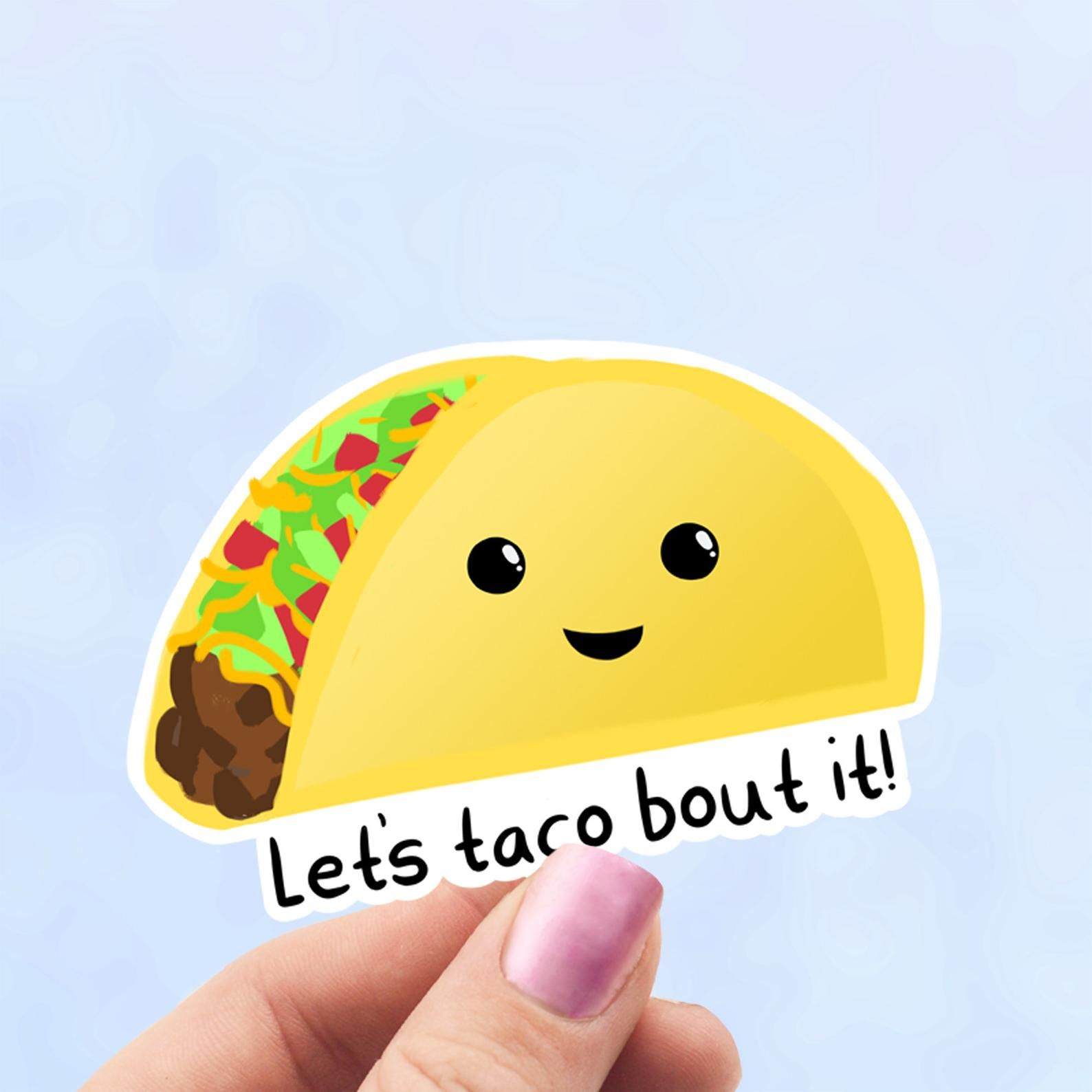 Funny taco sticker taco tuesday laptop decal